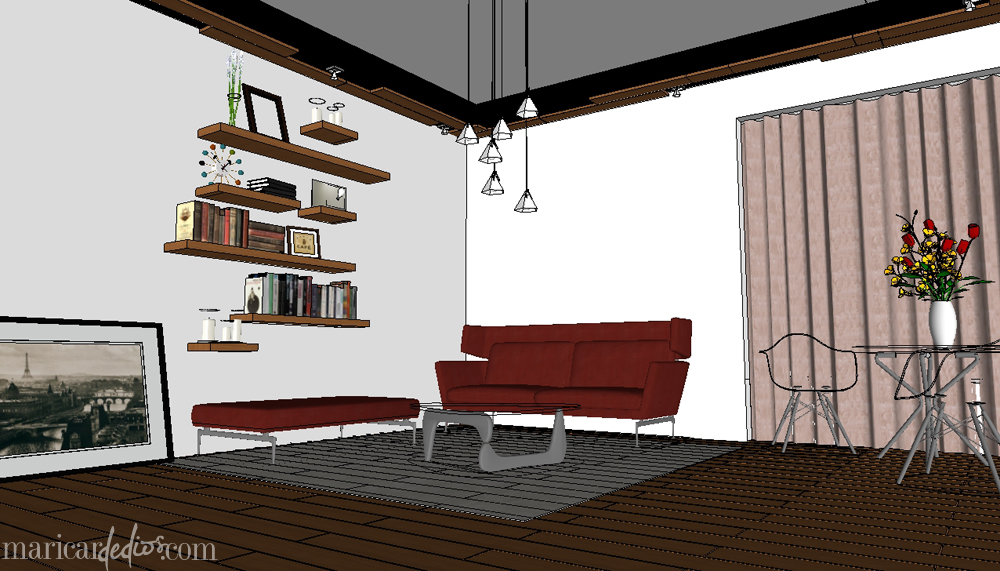VRAY for SKETCHUP: Before. In-between. After. | MARICARdeDIOS
