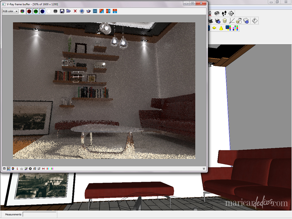 VRAY for SKETCHUP: Before  In-between  After  | MARICARdeDIOS